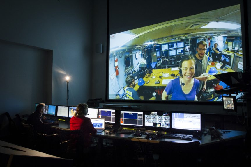 Inner Space Center's mission control room.