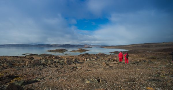 Photo of two explorers Fort Ross, Nunavut, Canada, by Ken Burton